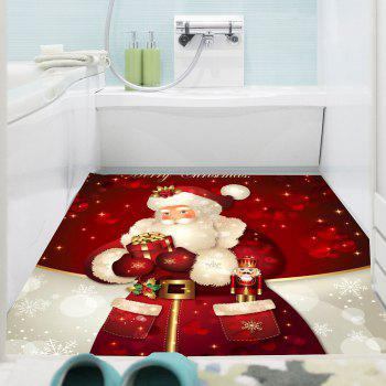 Santa Claus Gifts Patterned Multifunction Wall Art Sticker - DEEP RED 1PC:24*47 INCH( NO FRAME )