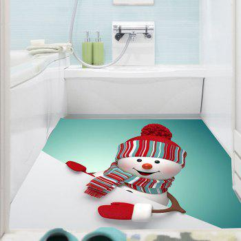 Christmas Snowman Pattern Removable Multifunction Wall Sticker - COLORFUL 1PC:39*39 INCH( NO FRAME )