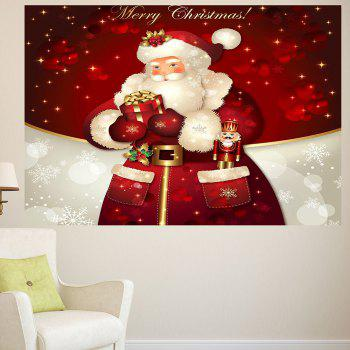 Santa Claus Gifts Patterned Multifunction Wall Art Sticker - 1PC:39*39 INCH( NO FRAME ) 1PC:39*39 INCH( NO FRAME )