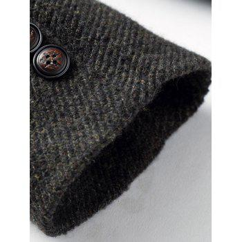 Wood Blend Single Breasted Tweed Coat - XL XL