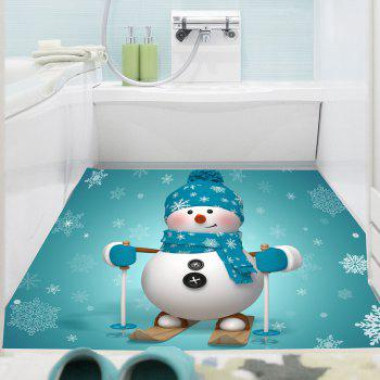 Skiing Snowman Pattern Multifunction Wall Art Sticker - BLUE 1PC:24*35 INCH( NO FRAME )