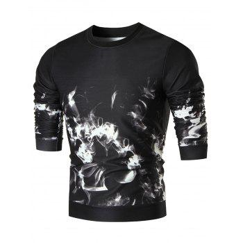Flame Printed Crewneck Sweatshirt - COLORMIX L