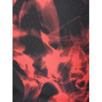 Flame Print Slim Fit Crew Neck Sweatshirt - XL XL