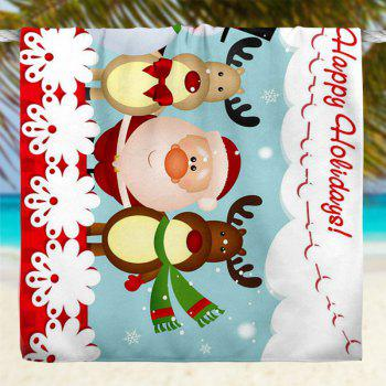 Cartoon Santa Claus Snowman Elk Bath Towel - 75CM*150CM 75CM*150CM