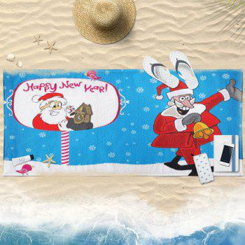 Christmas Santa Claus Pattern Bath Towel