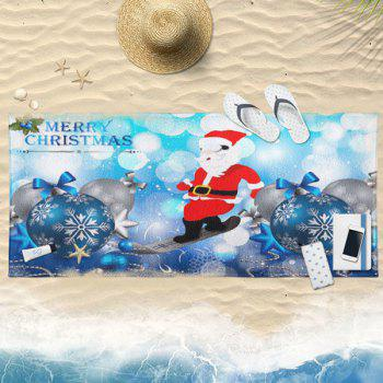 Christmas Balls Santa Claus Bath Towel