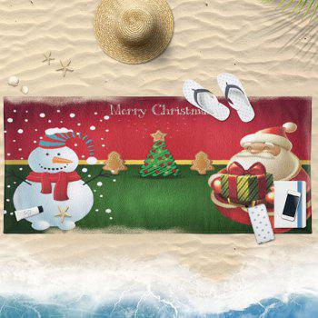 Christmas Water Absorption Printed Bath Towel