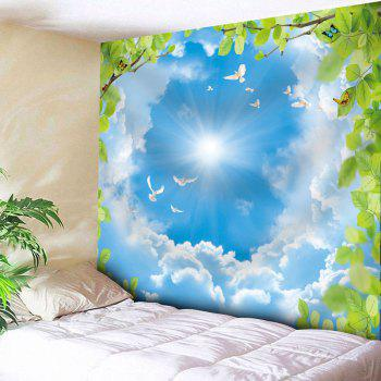 Wall Decor Sky Pigeon Butterfly Tapestry - SKY BLUE W91 INCH * L71 INCH