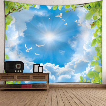 Wall Decor Sky Pigeon Butterfly Tapestry - W91 INCH * L71 INCH W91 INCH * L71 INCH