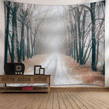 Snowscape Pattern Wall Art Tapestry - GRAY GRAY