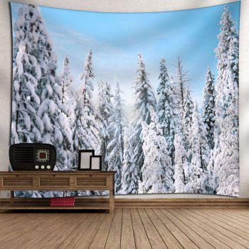 Wall Decor Snowscape Bedroom Tapestry - W91 INCH * L71 INCH W91 INCH * L71 INCH