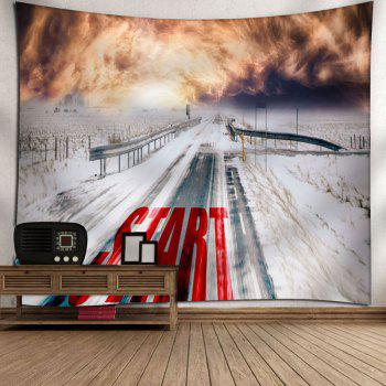 Wall Hanging Snowscape Tapestry - W79 INCH * L59 INCH W79 INCH * L59 INCH