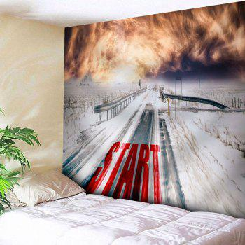 Wall Hanging Snowscape Tapestry - COLORMIX W91 INCH * L71 INCH