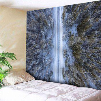 Forest Snowscape Pattern Wall Tapestry - COLORMIX W91 INCH * L71 INCH