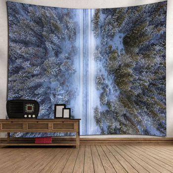 Forest Snowscape Pattern Wall Tapestry - W91 INCH * L71 INCH W91 INCH * L71 INCH