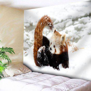 Snowscape Wall Decor Animal Tapestry - WHITE W79 INCH * L71 INCH