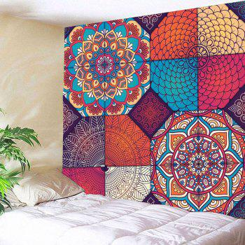 Hanging Bohemia Patterned Waterproof Wall Art Tapestry - W91 INCH * L71 INCH W91 INCH * L71 INCH