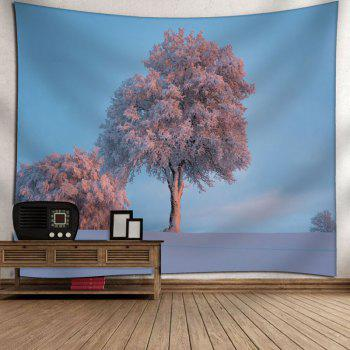 Snowscape Tree Printed Wall Tapestry - W91 INCH * L71 INCH W91 INCH * L71 INCH