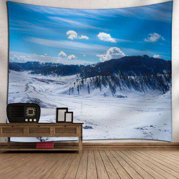 Bedroom Decor Snowscape Printed Tapestry - SKY BLUE W59 INCH * L51 INCH