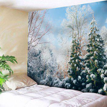 Snowscape Printed Wall Hanging Tapestry - COLORMIX W91 INCH * L71 INCH