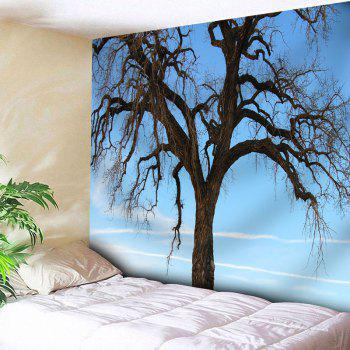 Wall Hanging Tree Printed Tapestry - CLOUDY W71 INCH * L71 INCH