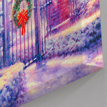 Wall Art Christmas Courtyard Print Canvas Painting - 1PC:24*43 INCH( NO FRAME ) 1PC:24*43 INCH( NO FRAME )