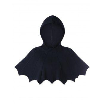 Scalloped Hooded Halloween Bat Cape