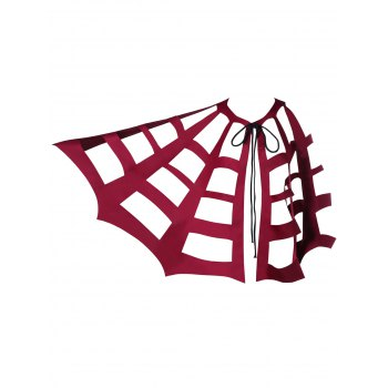 Halloween Tie Up Hollow Out Bat Cape - ONE SIZE ONE SIZE