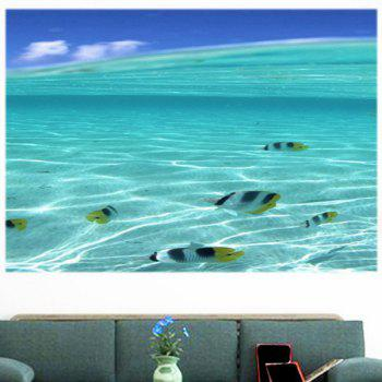 Multifunction Sea Fish Pattern Waterproof Wall Sticker - 1PC:24*71 INCH( NO FRAME ) 1PC:24*71 INCH( NO FRAME )