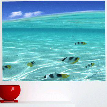 Multifunction Sea Fish Pattern Waterproof Wall Sticker - 1PC:59*39 INCH( NO FRAME ) 1PC:59*39 INCH( NO FRAME )