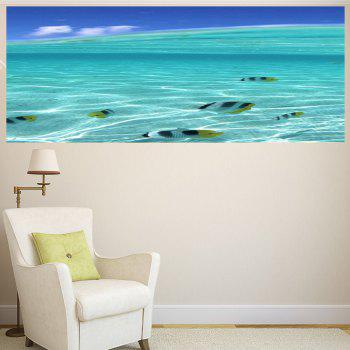 Multifunction Sea Fish Pattern Waterproof Wall Sticker - PANTONE TURQUOISE 1PC:59*39 INCH( NO FRAME )