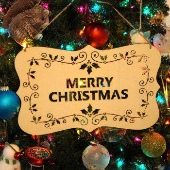Merry Christmas Decorations Wooden Hanging Sign - WOOD WOOD