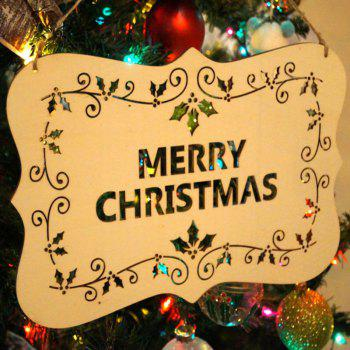 Merry Christmas Decorations Wooden Hanging Sign -  WOOD