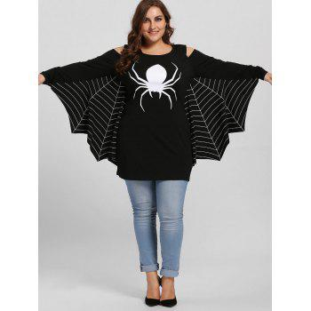Plus Size Spider Batwing Halloween Costume - BLACK 3XL