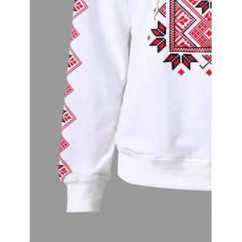Tribal Print Sweatshirt - XL XL