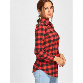 Checked Long Sleeve Shirt - CHECKED L