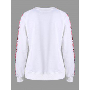 Tribal Print Sweatshirt - WHITE WHITE