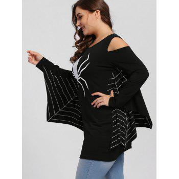 Plus Size Spider Batwing Halloween Costume - BLACK BLACK