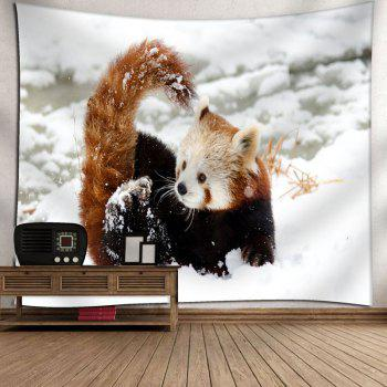 Snowscape Wall Decor Animal Tapestry - WHITE WHITE