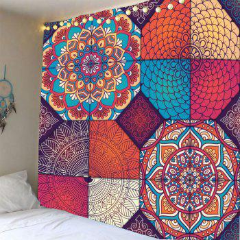 Hanging Bohemia Patterned Waterproof Wall Art Tapestry - COLORFUL COLORFUL