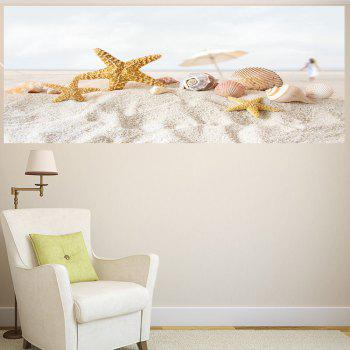 Starfish Beach Pattern Multifunction Wall Sticker - COLORMIX COLORMIX