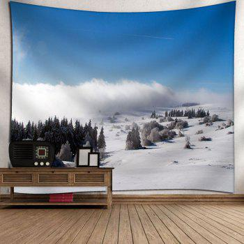 Snowscape Bedroom Wall Hanging Tapestry - SKY BLUE SKY BLUE