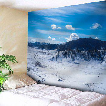 Bedroom Decor Snowscape Printed Tapestry - SKY BLUE SKY BLUE