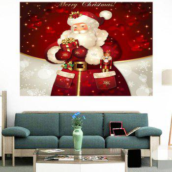 Santa Claus Gifts Patterned Multifunction Wall Art Sticker - DEEP RED DEEP RED