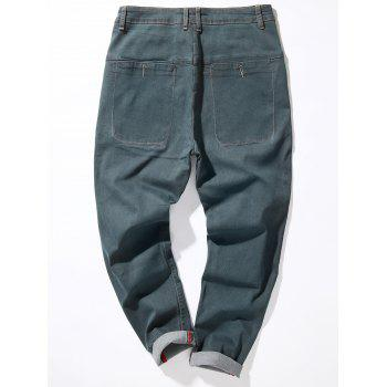 Loose Fit Zipper Fly Suture Pockets Harem Jeans - GRAY 32