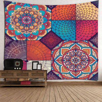 Hanging Bohemia Patterned Waterproof Wall Art Tapestry - COLORFUL W71 INCH * L71 INCH