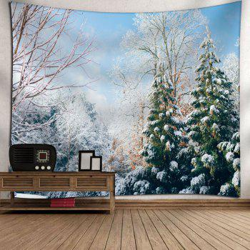 Snowscape Printed Wall Hanging Tapestry - COLORMIX W79 INCH * L59 INCH