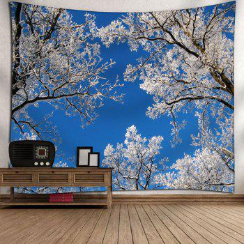 Sky Tree Branch Wall Decor Tapestry - BLUE W71 INCH * L71 INCH