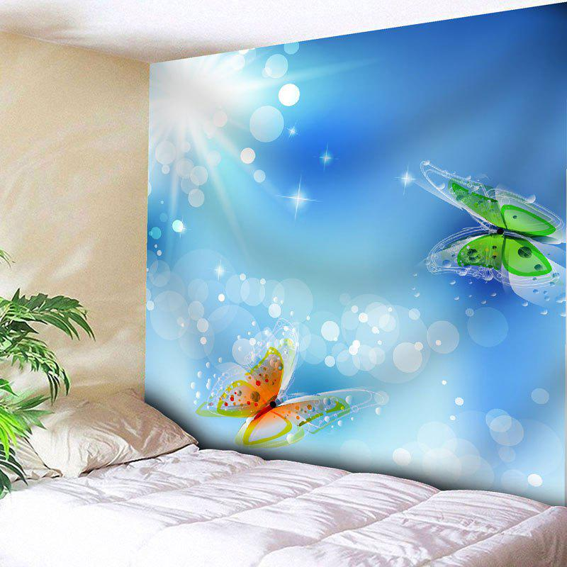 Butterfly Printed Wall Hanging Tapestry - SKY BLUE W91 INCH * L71 INCH