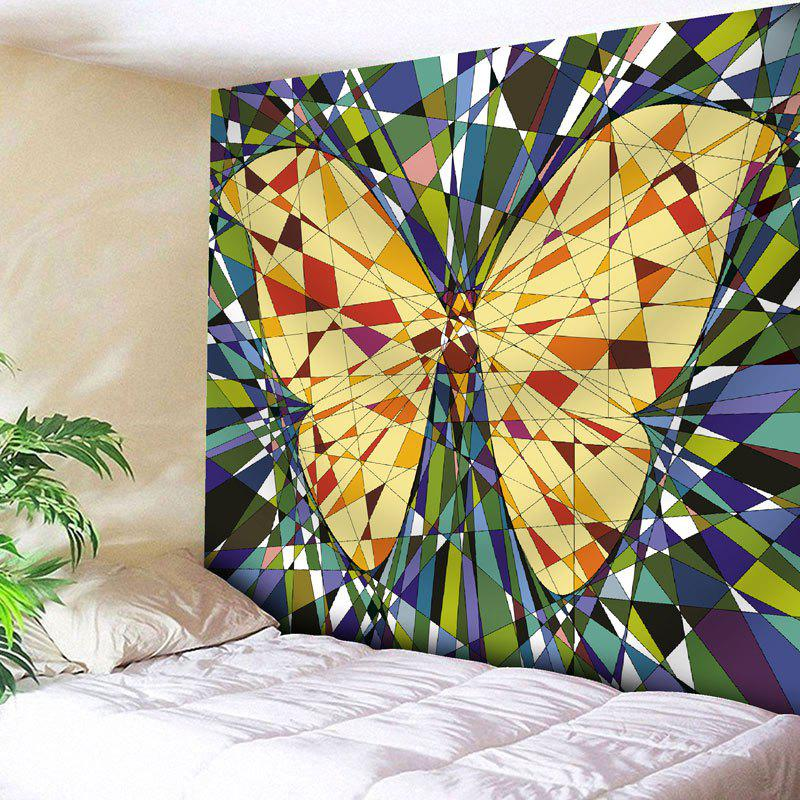 Wall Decor Butterfly Print Tapestry - YELLOW W79 INCH * L71 INCH